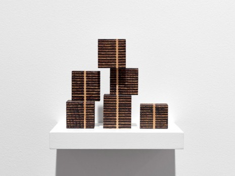 Roger Ackling, 6 Unit Stack Piece, Voewood, 1999, Ingleby Gallery