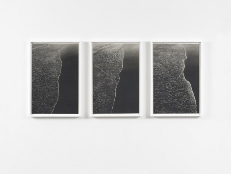 Richard Forster, Three Verticals at Approximately 30 second intervals, Saltburn -by -the Sea, Jan 3, 2015. 11.22-11.24am, 2015, Ingleby Gallery
