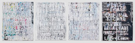 Mark Bradford, Reduce or Erase Your Criminal Record, 2015, Hauser & Wirth