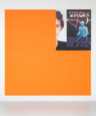 Michel Majerus, Tron 1 (orange Pantone 151), 1999, Matthew Marks Gallery