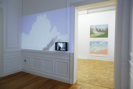 Jef Geys, How to Paint Clouds in a Room - Mural Joe & Jef Lenaers, 2015, Galerie Micheline Szwajcer (closed)