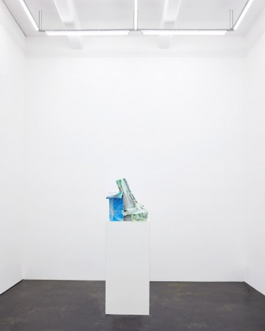 Jan De Cock, Abstract Capitalism with Blue Barn, 2016, Office Baroque