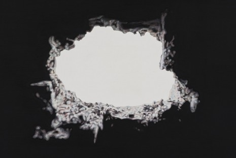 Toba Khedoori, Untitled (hole) (detail), 2013, Regen Projects
