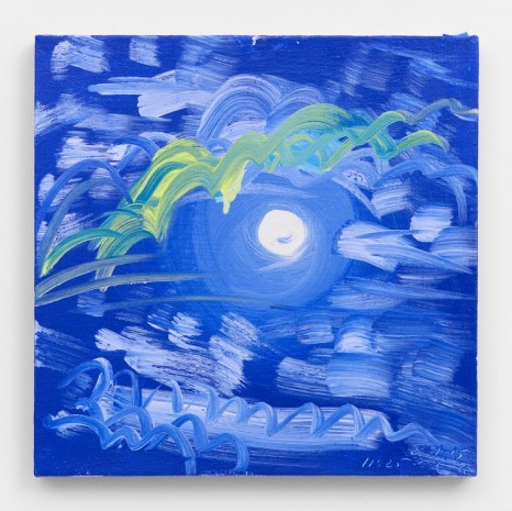 Ann Craven, Moon (Cloudy Night, Cushing, 8-1-15, 11:25PM), 2015, 2015, Maccarone