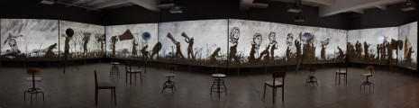 William Kentridge, More Sweetly Play the Dance, 2015, Marian Goodman Gallery