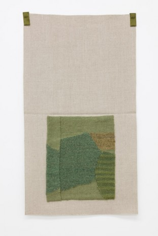Helen Mirra, Grayish green, rhubarb-dyed blue-green, yellowgreen, lichen-dyed light brown, 2015, Galerie Nordenhake