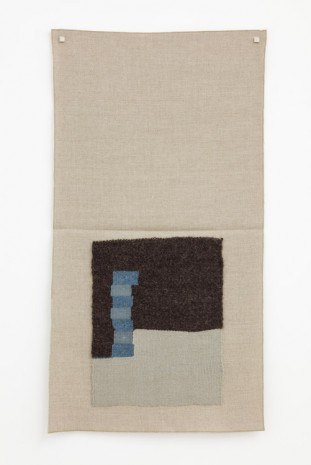Helen Mirra, Undyed dark brown, light silver, light blue, lighter gray-blue, 2015, Galerie Nordenhake