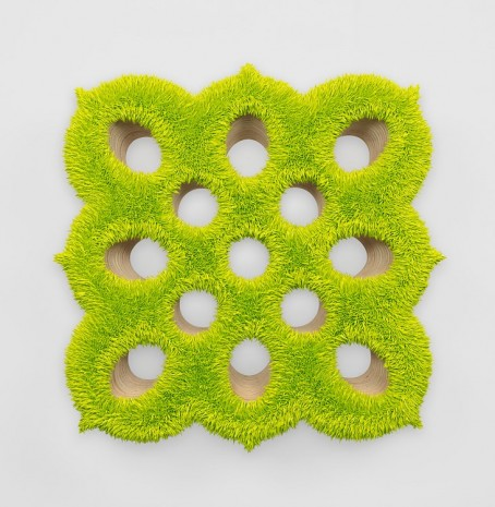 Donald Moffett, Lot 090315 (spore 4, chartreuse), 2015, Marianne Boesky Gallery