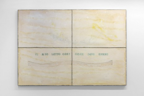 Pier Paolo Calzolari, Untitled (project for My bed as it must be), 1968, kamel mennour
