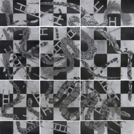 Tina Schulz, O.T. (Snakes and Ladders), 2011, KOW