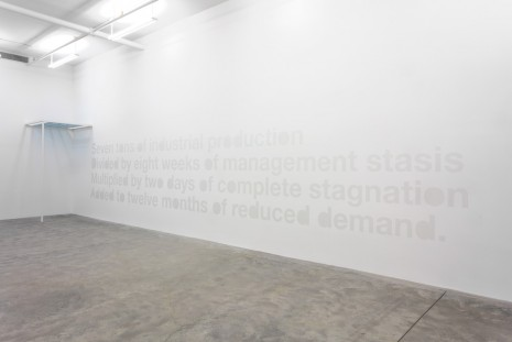 Liam Gillick, Seven Tons of Industrial Production, 2007, Casey Kaplan