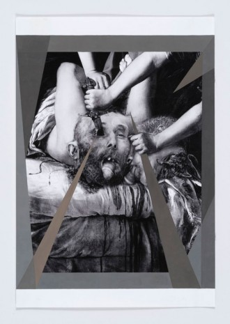 Anna Ostoya, Beheading, Castrating and Blinding with Grey Shards, 2016, Bortolami Gallery