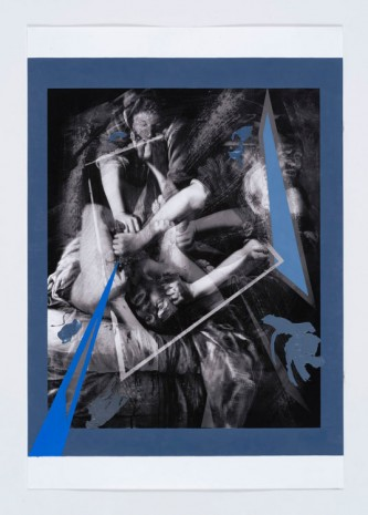 Anna Ostoya, After Abstraction in a Blue Frame, 2016, Bortolami Gallery