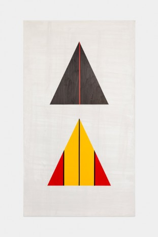 David Diao, Barnett Newman: the Triangle Paintings 2, 2014, Office Baroque