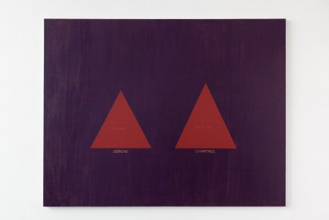 David Diao, Barnett Newman: His Triangle Paintings, 2011, Office Baroque