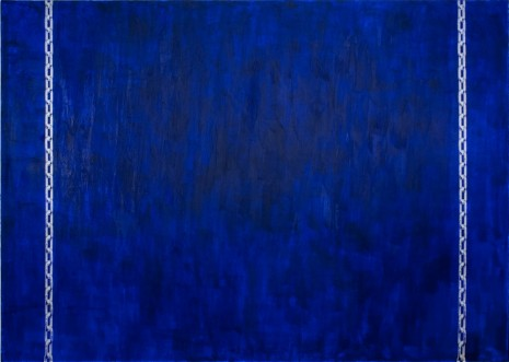 David Diao, Barnett Newman - Hanging by Chains (blue), 2014, Office Baroque
