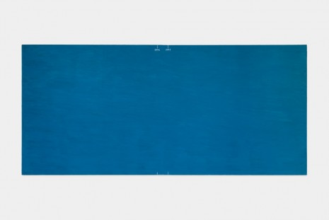 David Diao, Barnett Newman - His Gap Years, large blue, 2014, Office Baroque