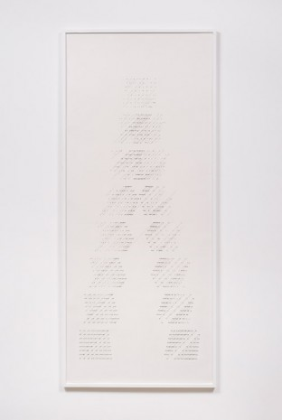 Channa Horwitz, Slices Top to Bottom, 1975, Ghebaly Gallery