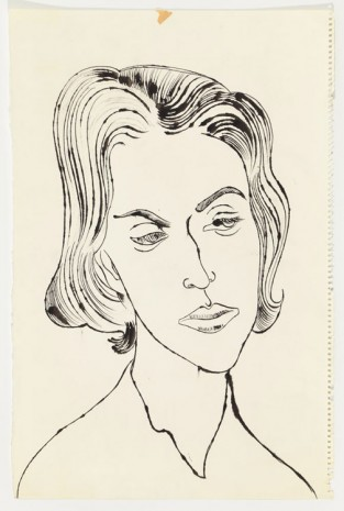 Andy Warhol, Unidentified Female, ca. 1957, Anton Kern Gallery