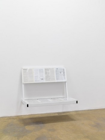 Oscar Tuazon, Reading bench 2 (liberty with love), 2016, Galerie Chantal Crousel