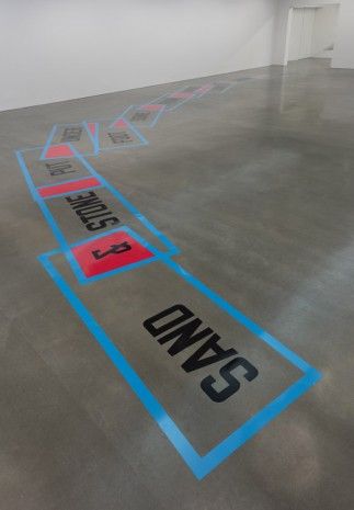 Lawrence Weiner, SAND & STONE PUT UNDER FOOT SOME FROM HERE SOME FROM THERE, 2016, Regen Projects