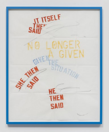 Lawrence Weiner, Situation, 2016, Regen Projects