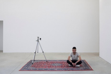 Darren Bader, persian rug and/with tripod and/with sous chef, 2013, Galleria Franco Noero