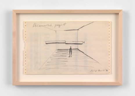 Keiji Uematsu, Documenta 6 project drawing, 1976, Simon Lee Gallery