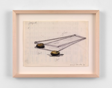 Keiji Uematsu, Project drawing, 1977, Simon Lee Gallery