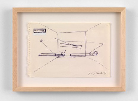 Keiji Uematsu, Project drawing, 1973, Simon Lee Gallery