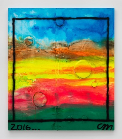 Chris Martin, Untitled, 2016, David Kordansky Gallery