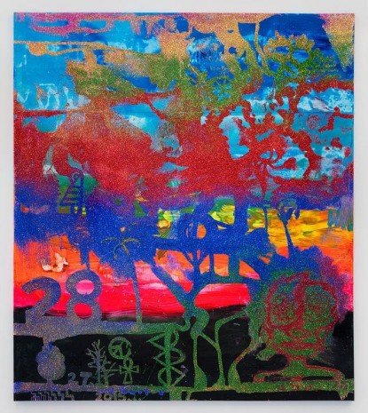 Chris Martin, 28, 2015, David Kordansky Gallery
