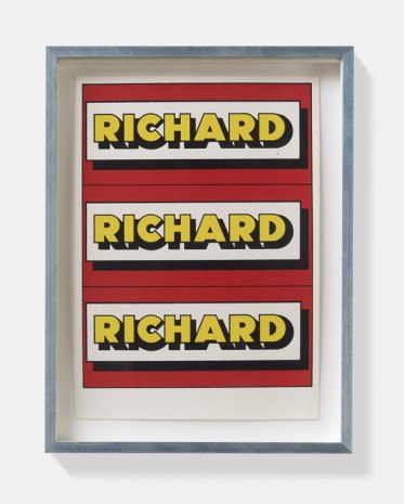 Richard Hamilton, Untitled – stage proof, ca. 1975 , David Zwirner