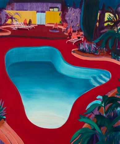 Jules de Balincourt, Valley Pool Party, 2016, Victoria Miro Gallery