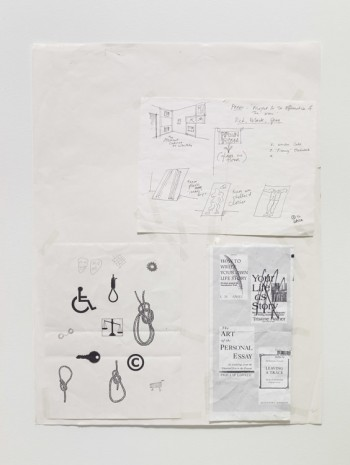 Seth Price, Working Drawings: Themes and Rooms, 2005, Galerie Chantal Crousel