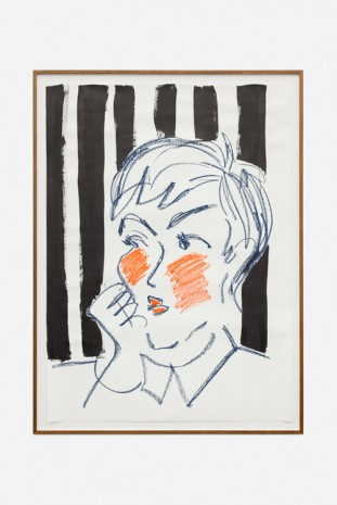 Ella Kruglyanskaya, Striped Woman with Red Cheeks, 2016, Office Baroque