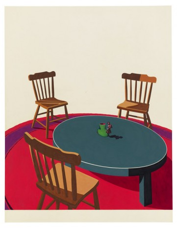 Ken Price, Figurine Cup (Study for Silkscreen), 1971 , Matthew Marks Gallery