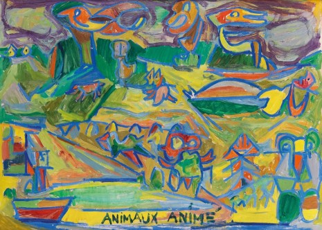 Asger Jorn, Animaux animé(s) (Animated Animals) (recto), 1944/46, Petzel Gallery