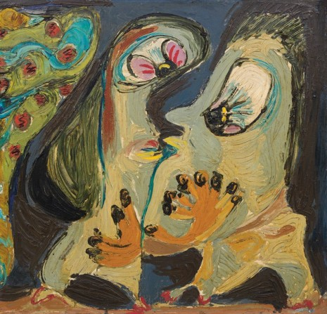Asger Jorn, Couple amoureux interplanétaire (Interplanetary loving couple), 1954 , Petzel Gallery