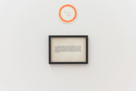 Joseph Grigely,  Untitled Conversation (Fuck You), 1996, Gandy gallery