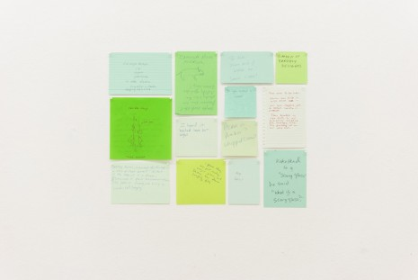 Joseph Grigely, Thirteen Green Conversations, 2004, Gandy gallery