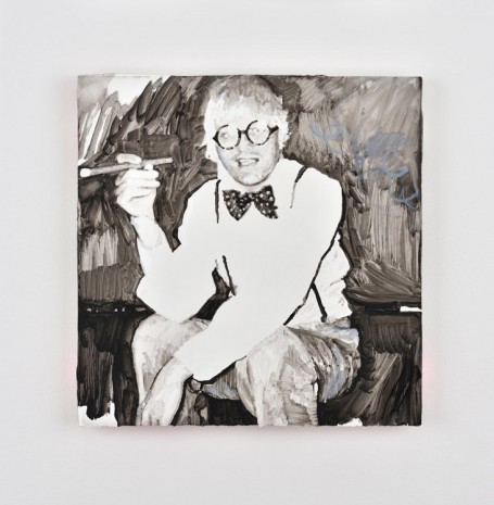 Ida Tursic & Wilfried Mille, David Hockney smoking smiling and shining, 2016, Almine Rech