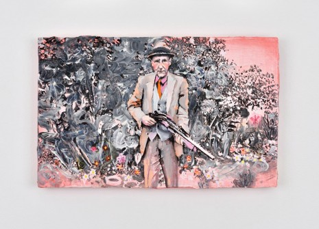 Ida Tursic & Wilfried Mille, William S. Burroughs in pink with his favorite gun, 2016, Almine Rech