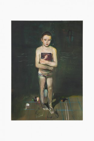 Matthieu Ronsse, Self as young swimmer, 2016, Almine Rech