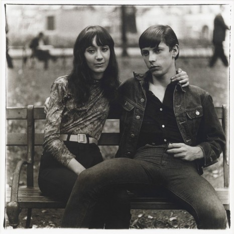 Diane Arbus, Young couple on a bench in Washington Square Park, N.Y.C., 1965, Cheim & Read