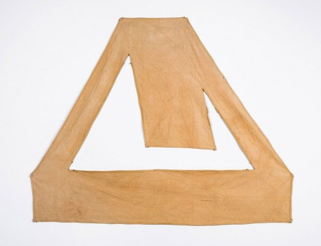 Richard Tuttle, Red Brown Canvas, 1967 , Luhring Augustine