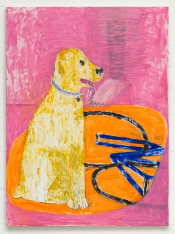 Stuart Cumberland, Dog With Foot & Blue Bike, 2016 , The Approach