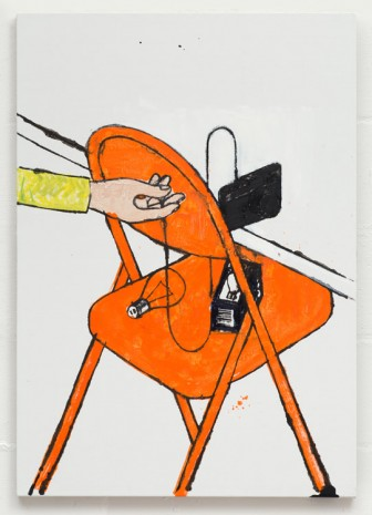 Stuart Cumberland, How To Change a Lightbulb - Orange Chair, 2016 , The Approach