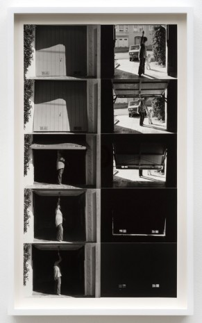 Lew Thomas, OPENING & CLOSING THE GARAGE DOOR: 2 Perspectives, 1972, printed 2015, Cherry and Martin