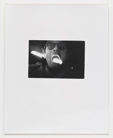Lew Thomas, Eat/Light (Self-Portrait #1), 1972, Cherry and Martin
